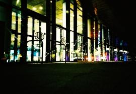 Wales Millennium Centre entrance, Cardiff Bay