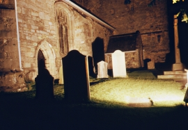 Cartmel Priory graveyard