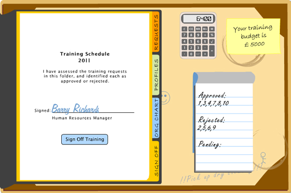 Human Capital Theory training schedule sign off