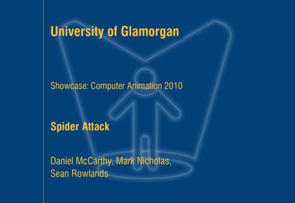 Glamorgan Student Showcase title screen