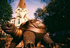 Turtle Sculpture, Jurmala Beach, Latvia