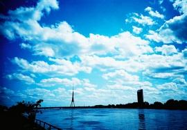 Radio and TV Tower across the Daugava River, Riga