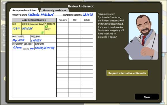 VPM: Anitemetic Review Screen