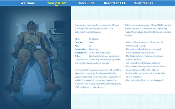 Virtual ECG: Patient information