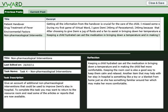 VWard blog submission screen