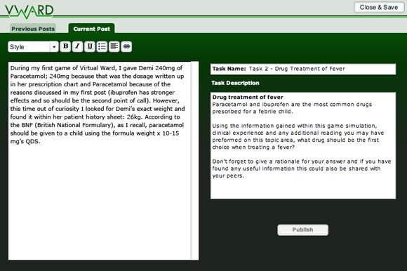 VWard blog submission screen 2