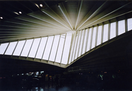 Photo of a feature window inside Bilbao airport