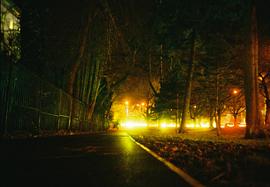 Nightime photo of Boulevard de Nantes, Cardiff