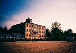 Photo of an abandoned building on Jurmala Beach, Latvia